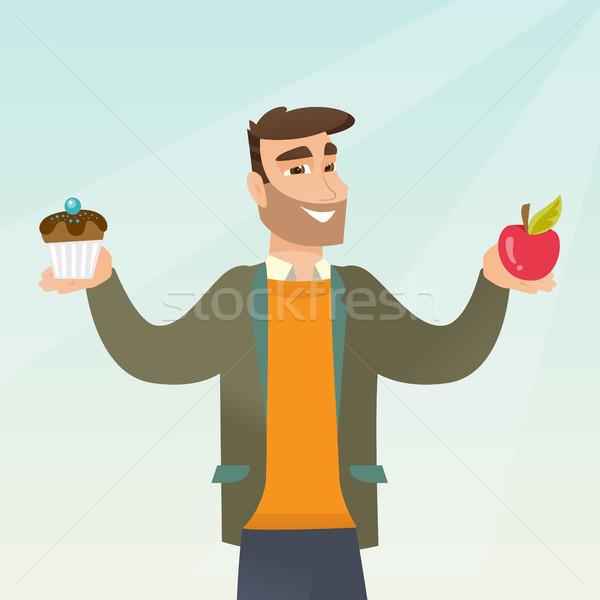 Homem escolher maçã mãos Foto stock © RAStudio