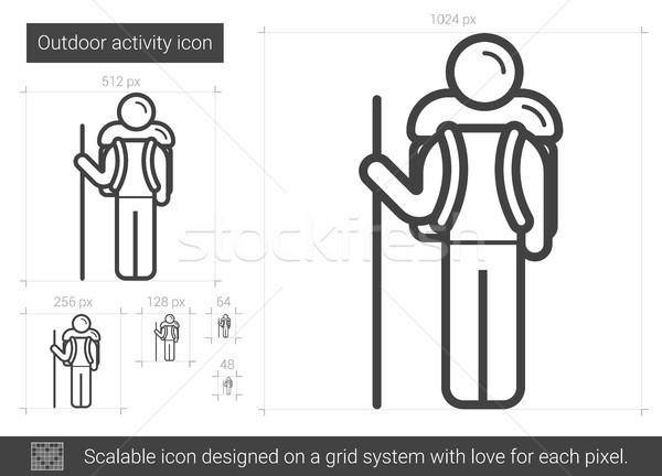 Outdoor activity line icon. Stock photo © RAStudio
