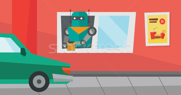 Robot works in a fast food restaurant. Stock photo © RAStudio