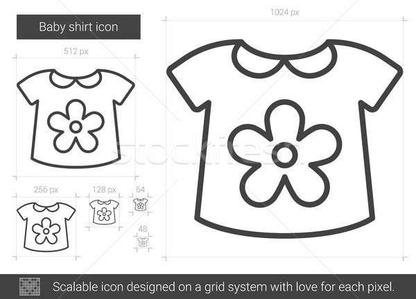 3082b0c03209 Baby shirt line icon. vector illustration © Andrei Krauchuk ...