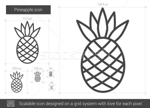 Pineapple line icon. Stock photo © RAStudio