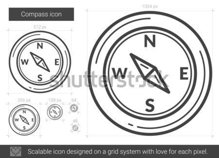 Compass line icon. Stock photo © RAStudio