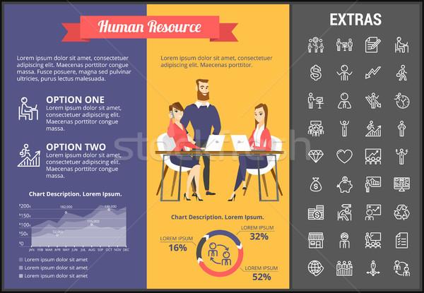 Human resource infographic template and elements. Stock photo © RAStudio