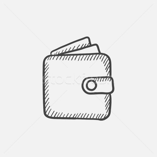 Pénztárca rajz ikon háló mobil infografika Stock fotó © RAStudio