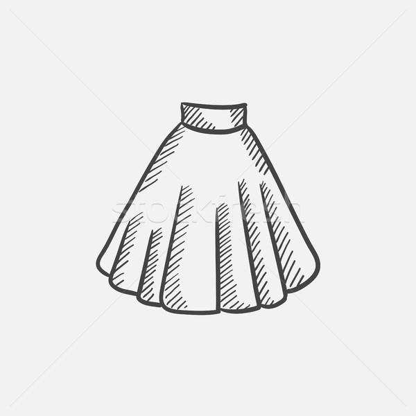 Spódnica szkic ikona internetowych komórkowych infografiki Zdjęcia stock © RAStudio