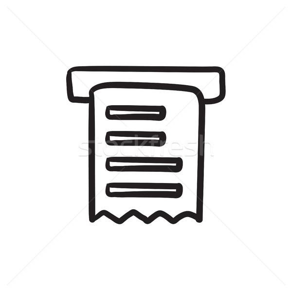 Ricevimento sketch icona vettore isolato Foto d'archivio © RAStudio