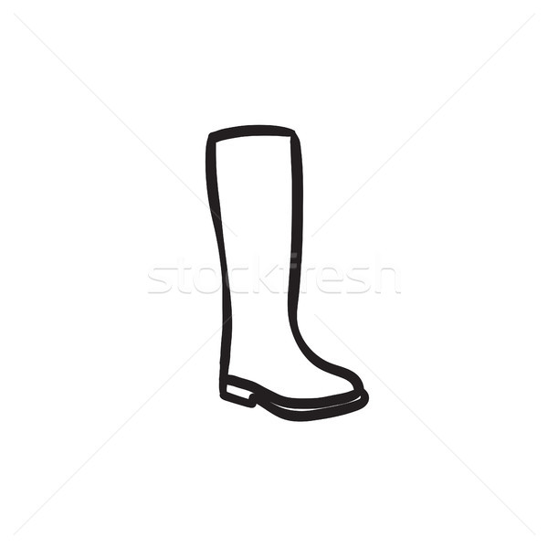 High boot sketch icon.  Stock photo © RAStudio