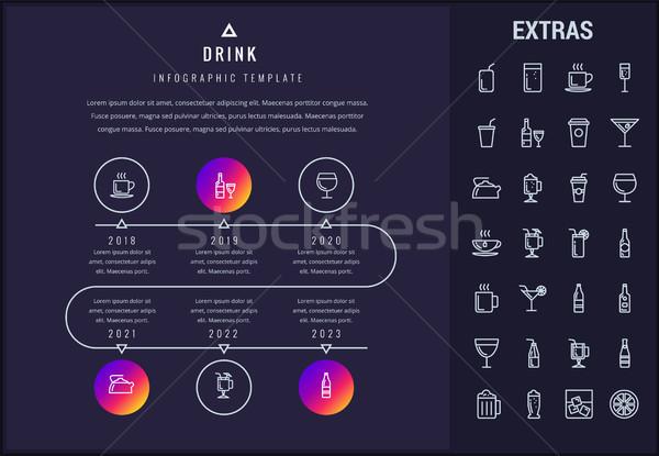 Beber modelo elementos ícones Foto stock © RAStudio