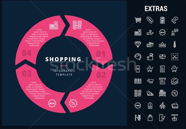Alışveriş şablon elemanları simgeler özelleştirilebilir Stok fotoğraf © RAStudio