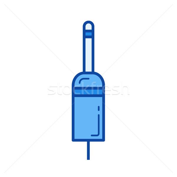 Plugue linha ícone vetor isolado branco Foto stock © RAStudio