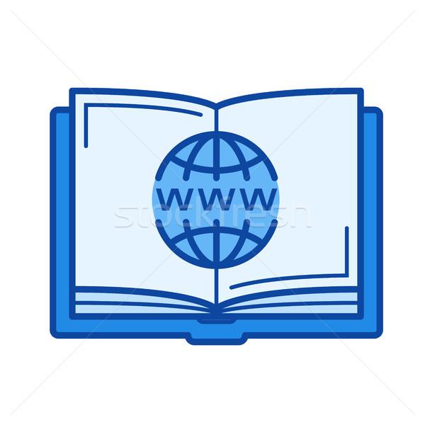 Online education line icon Stock photo © RAStudio