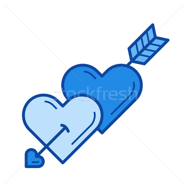 Cupid arrow line icon. Stock photo © RAStudio