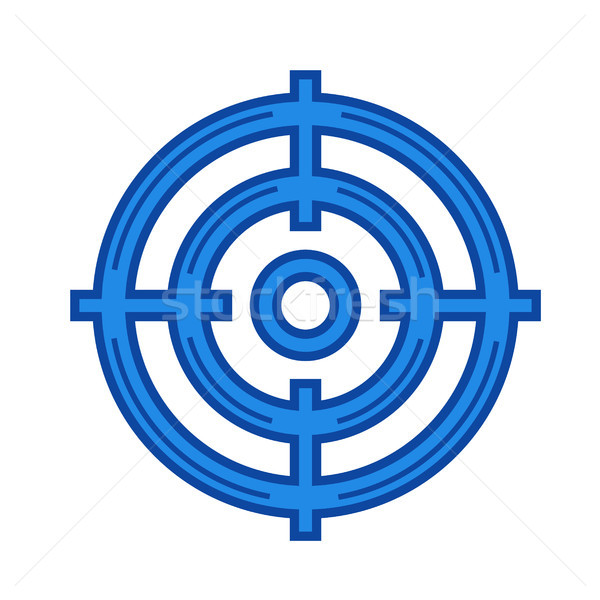 Target audience line icon. Stock photo © RAStudio
