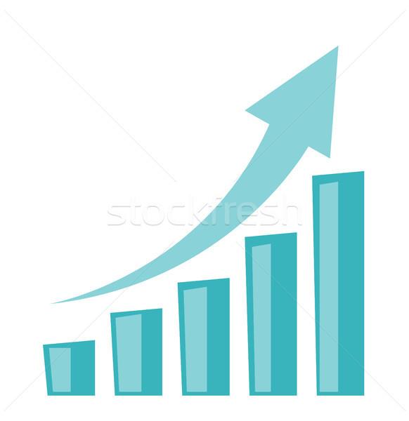 Affaires croissance graphique à barres flèche up financière Photo stock © RAStudio