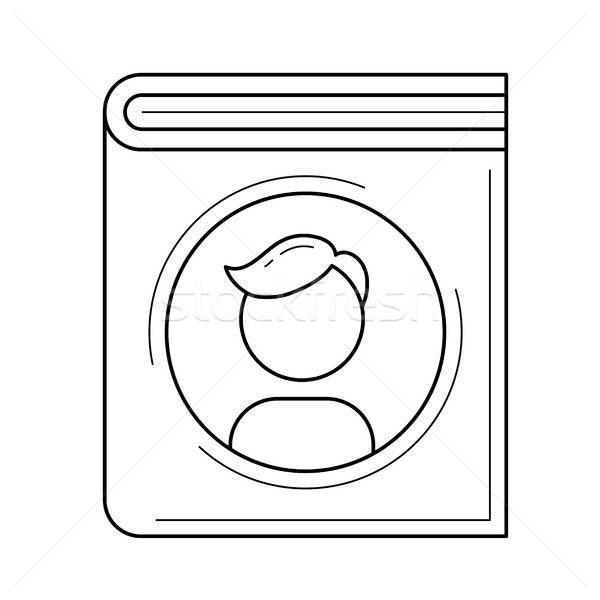 Family book vector line icon. Stock photo © RAStudio