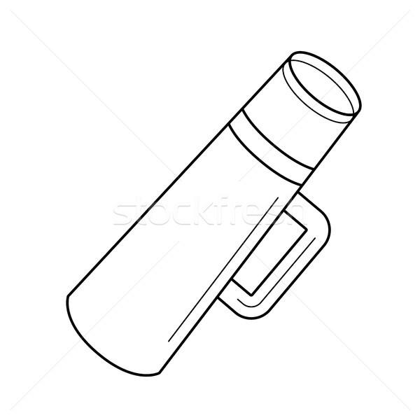 Flaska vonal ikon vektor izolált fehér Stock fotó © RAStudio