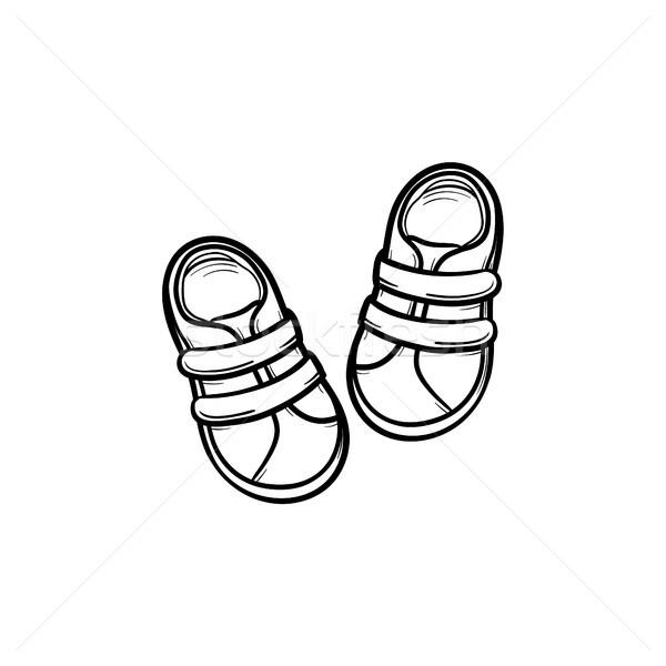 Schets doodle icon pasgeboren Stockfoto © RAStudio