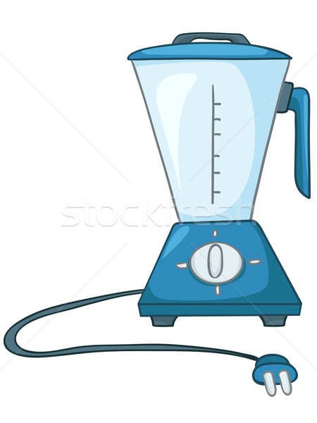 Stock photo: Cartoon Home Kitchen Blender