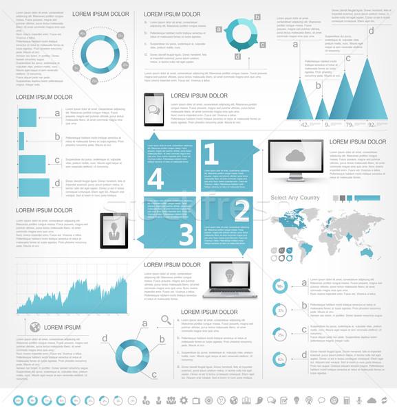 ストックフォト: 業界 · インフォグラフィック · 要素 · 国 · eps
