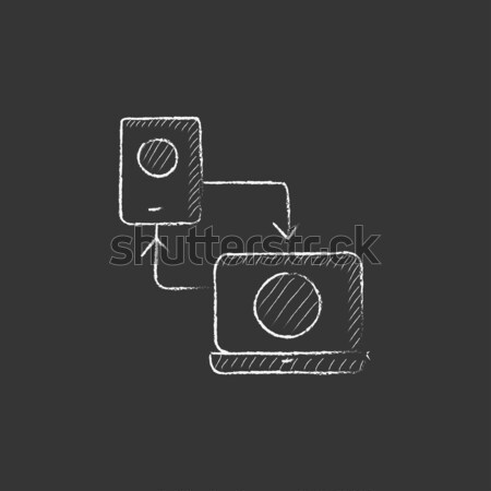 Responsive web design icon drawn in chalk. Stock photo © RAStudio