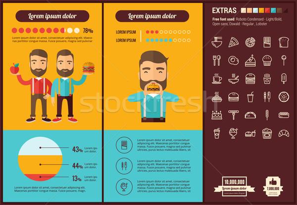 Fast-food projeto modelo elementos ilustrações Foto stock © RAStudio