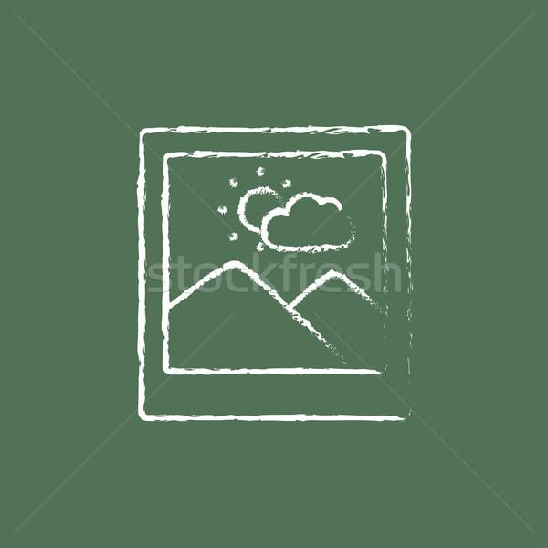 Picture icon drawn in chalk. Stock photo © RAStudio