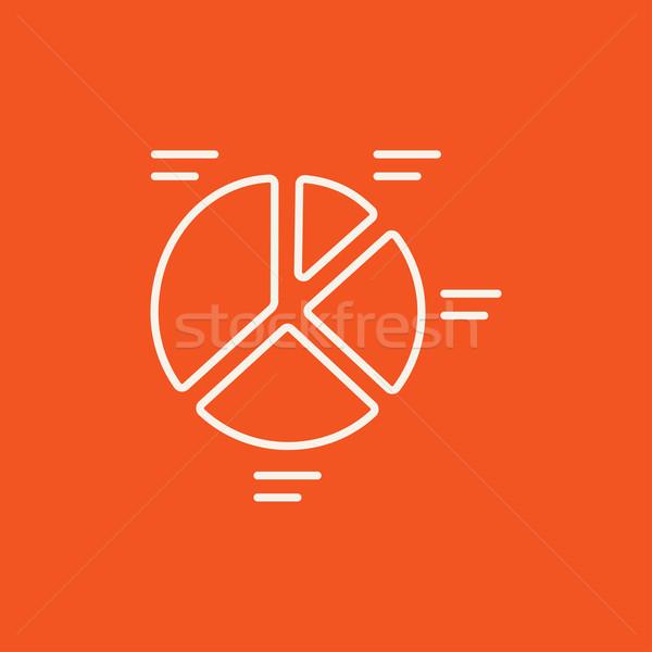 Kördiagram vonal ikon háló mobil infografika Stock fotó © RAStudio