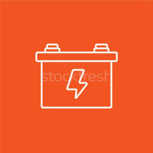 Carro bateria linha ícone teia móvel Foto stock © RAStudio