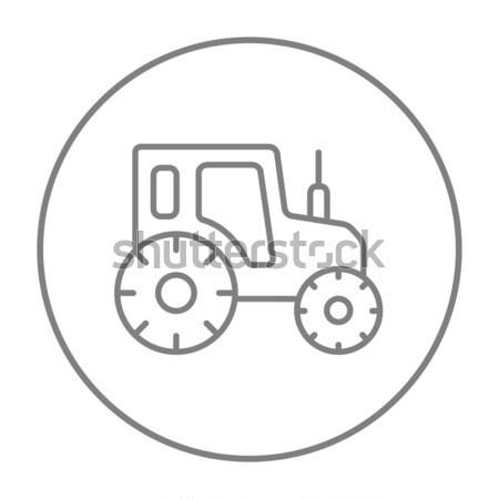 Trator linha ícone teia móvel infográficos Foto stock © RAStudio