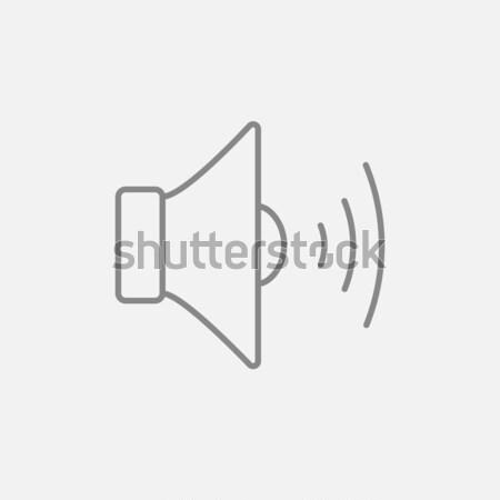 Stock fotó: Hangszóró · hangerő · vonal · ikon · háló · mobil