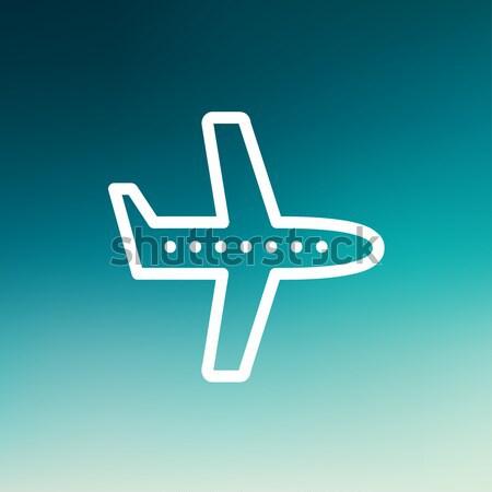 Flying airplane line icon. Stock photo © RAStudio