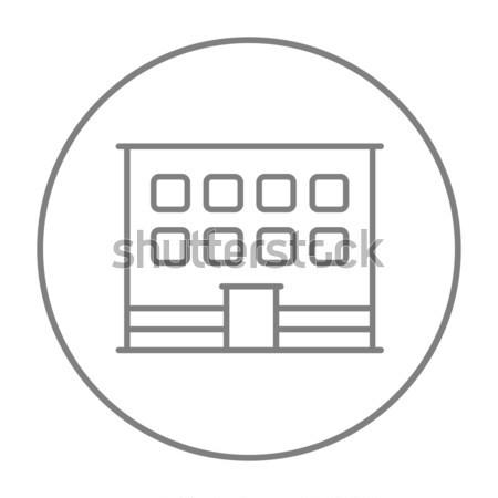 オフィスビル 行 アイコン ウェブ 携帯 インフォグラフィック ストックフォト © RAStudio