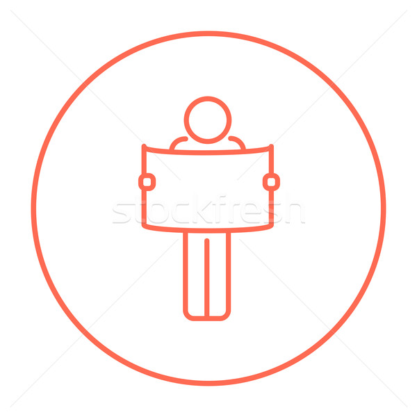 男 見える 地図 行 アイコン ウェブ ストックフォト © RAStudio