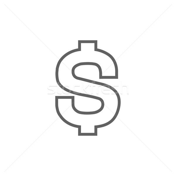 доллара символ линия икона уголки веб Сток-фото © RAStudio