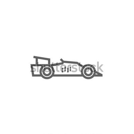 レースカー 行 アイコン コーナー ウェブ 携帯 ストックフォト © RAStudio