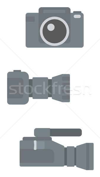 цифровой фото камеры профессиональных видеокамерой вектора Сток-фото © RAStudio