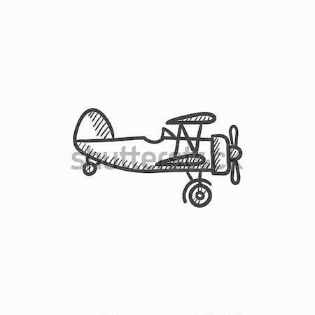 Propeller plane sketch icon. Stock photo © RAStudio