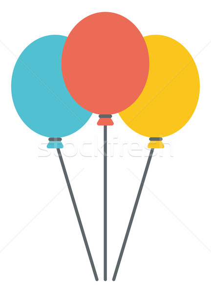 Colourful birthday or party balloons.  Stock photo © RAStudio