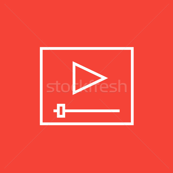 Video player line icon. Stock photo © RAStudio