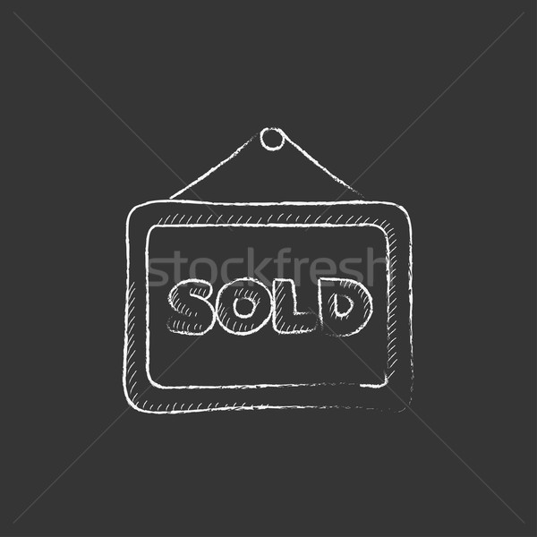 Sold placard. Drawn in chalk icon. Stock photo © RAStudio