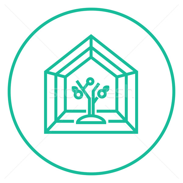 Greenhouse line icon. Stock photo © RAStudio