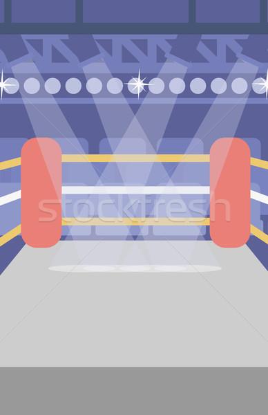 бокса кольца вектора дизайна иллюстрация вертикальный Сток-фото © RAStudio