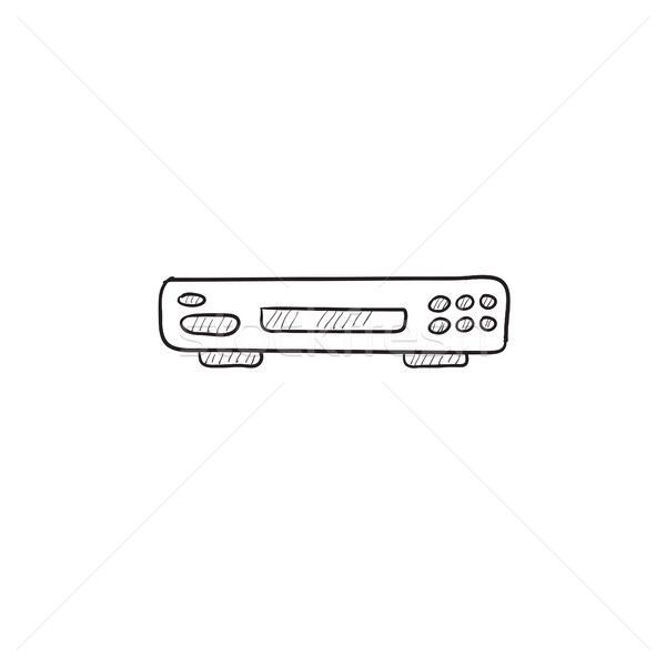 Video recorder sketch icon. Stock photo © RAStudio