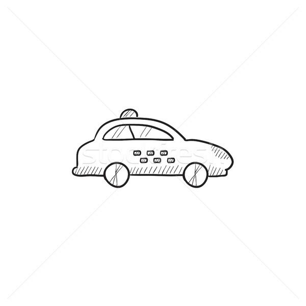 такси автомобилей эскиз икона вектора изолированный Сток-фото © RAStudio