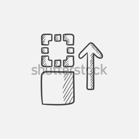 Movement of files  sketch icon. Stock photo © RAStudio
