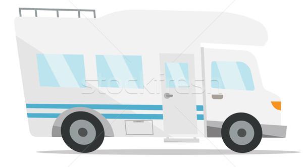 Modern camper van vector illustration. Stock photo © RAStudio