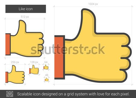 Like line icon. Stock photo © RAStudio