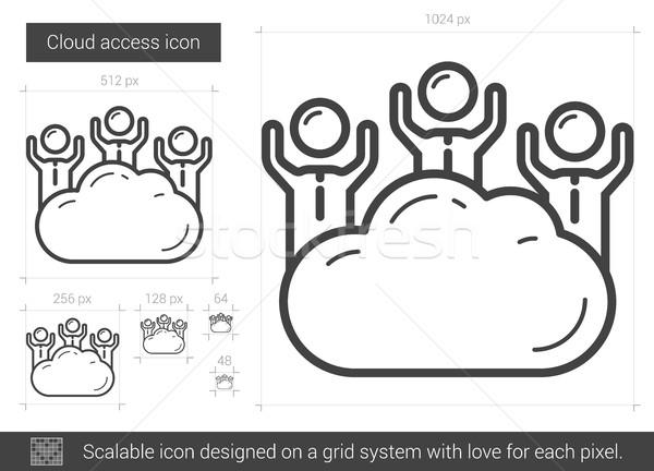 Nube accesso line icona vettore isolato Foto d'archivio © RAStudio