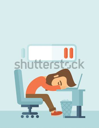 Lying tired employee. Stock photo © RAStudio