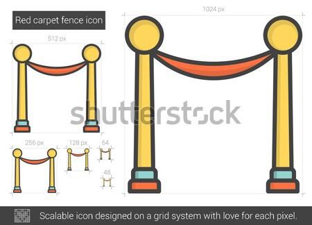 Red carpet fence line icon. Stock photo © RAStudio